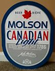 Vintage Molson Canadian Lite Beer Bar Pub Metal Tin Sign Large Collectible 29