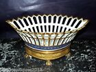 LOVELY PORCELAIN OLD PARIS SEVRES EMPIRE FRENCH GILDED NAVETE BASKET CENTERPIECE