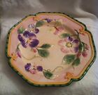 FITZ AND FLOYD Halcyon Majolica Spring Time Easter Plate Butterfly and Pansy