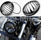 Black CNC Aluminum Headlight Grill Cover For Harley Sportster XL 883 1200 5-3/4