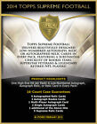 5 BCW Toploaders + Baltimore Ravens 2014 Topps Supreme 8 box March 11th