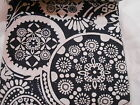 NEW POTTERY BARN INK NAVY BLUE WHITE MACKENZIE FLORAL FABRIC MATERIAL COTTON