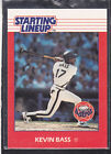 1988  KEVIN BASS - Kenner Starting Lineup Card - Houston Astros - Vintage