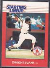 1988  DWIGHT EVANS - Kenner Starting Lineup Card - BOSTON RED SOX