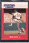 1988  MIKE WITT - Kenner Starting Lineup Card - California Angels - Vintage