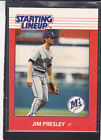 1988  JIM PRESLEY - Kenner Starting Lineup Card - Seattle Mariners -Vintage