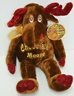 Dan Dee Chocolate Scented Moose Plush Christmas Glitter Antlers Stuffed 18