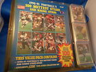 1990 91 SCORE FOOTBALL 100 HOTTEST STARS COMPLETE SET 100 NFL CARDS w BOOK