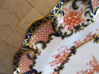 EXQUISITE Royal Crown Derby Plates, 1902, Heavy Gilt Accents, Scalloped Rim