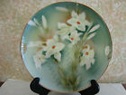 #446 Weimar Germany, hand painted porcelain charger/cake plate circa 1905.