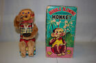 Vintage ALPS Japan Bubble Blowing Monkey Battery Op Toy with Original Box VG