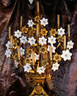 19th Century large French Ormolu Gilt Floral Electric Candelabra STUNNING!