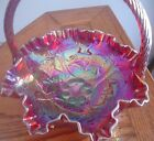 Fenton Ruby Red Carnival Glass Basket  Fenton Tags, 8