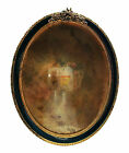 Antique Guilloche Enamel & Gilt Brass Picture Frame - Continental - 20th Century