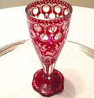 Antique Egermann Bohemian Czech Clear To Ruby Red Goblet/Vase Glass C1880-1900s