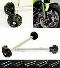 Front & Rear Axle Fork Crash Sliders Cap Wheel Protector For 04-06 YAMAHA YZF R1