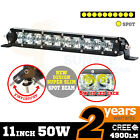 50W Cree LED Bar Light Spot Slim 11inch Work Offroad Lamp Boat 12V 24V 4wd Atv