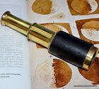 Antique Reproduction brass Spyglass /Vintage Leather Wrapped Telescope 6 (Inch)