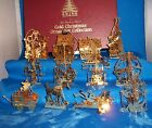 Danbury Mint Gold Christmas Ornament Collection - 1986 - 12 Pieces
