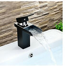 Waterfall Oil Rubbed Bronze Bathroom Basin Faucet Square Sink Mixer Tap 1 Handle