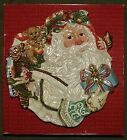 Fitz & Floyd Enchanted Holiday Santa Canape Snack Cookie Plate 10 1/2