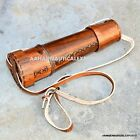 18 inch VINTAGE Nautical Marine Spyglass Brass Telescope with Leather case