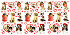 3 Sheets CAT and DOG Love Valentines HEART BFF Scrapbook Stickers