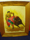 BAEZ BULL FIGHTER OIL PAINTING SIGNED
