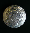 Very Fine Mexican Sterling Silver Mayan Calendar Pin Pendant Sgnd EME