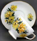 ROYAL VALE TEACUP & SAUCER-YELLOW DAISIES  G398
