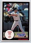 1990  STEVE SAX - Kenner Starting Lineup Card - New York Yankees - (BLUE)