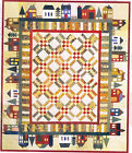 Around the Block - fabulous pieced house quilt PATTERN - The Rabbit Factory