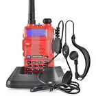 BaoFeng UV-5R Red 136-174/400-480MHz Dual-Band DTMF CTCSS DCS FM ham 2way radio