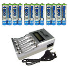 12 AAA Ultracell 1600mAh NiMH 1.2V Volt Rechargeable Battery EU 903 LCD Charger