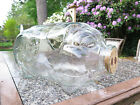Vintage This Little Pig Went to Market 5 Gal. Libbey Clear Glass Jar + Cork Nose
