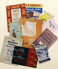 Lot of 10: Vintage 1960's Cook Books, Diet Books, Recipes and Food Pamphlets