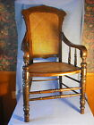 Antique Victorian Walnut Ren Rev.office chair w/caned back and seat, large