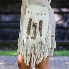Boho Bag with Real Leather  Fringe Purse  Bohemian Fringed Handbag  Hobo Bags