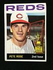 Pete Rose 1964 Topps Card #125 2nd Year Ex No Creases Nice Reds rookie trophy
