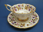 Vintage 1950's English Royal Stafford Bone China Cup & Saucer ~ Golden Bramble