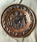 CopperCraft Guild FIREPLACE Wall Hanging COPPER Plate Embossed Rifle Powder Horn