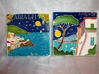 2 Vietri Italy Hand Painted Tiles Amalfi and Sorrento City Scenes
