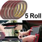 5PCS x Auto Truck Car Acrylic Foam Double Sided Attachment Tape Adhesive 3m10mm