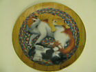 Franklin Mint Heirloom Cat Kitten Collector Plate Snug on A Rug  Turi Mac Combie