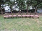 8 Antique Federal Style Mahogany Side Chairs Early 20th Century