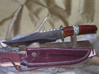 COLT STAG & PAKKA HUNTING BOWIE KNIFE W/ SHEATH CASE !!!