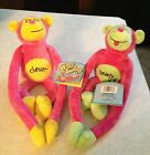 New 2 Retired Mood Swing Plush Monkeys Bratty and Clever with tags