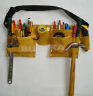 Double Leather Pouch Tool Belt Holder Electrician Construction Carpenter Quality