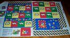 Cotton Fabric Panel Wall Hanging Tote for  Bean Bag Toy or Small Stuffed Animal