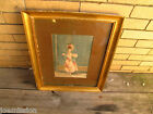 Antique ITALIAN water color painting   SIGNED  W2551